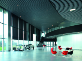 Cortinas enrrollables decoracion oficina Impacto Valencia Diseño muebles mobiliario